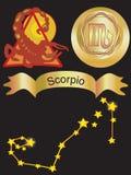 Scorpio del segno dello zodiaco illustrazione vettoriale