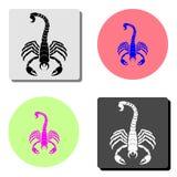 Scorpio. flat vector icon royalty free illustration