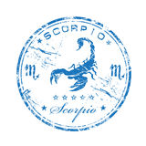 Scorpio rubber stamp Stock Photos