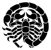 Scorpio Scorpion Zodiac Horoscope Sign stock illustration