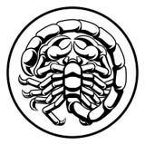 Scorpio Scorpion Horoscope Zodiac Sign stock illustration