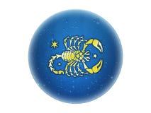 Scorpio - segno dorato dello zodiaco Fotografia Stock