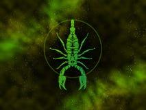 Scorpio Starfield do zodíaco Imagem de Stock Royalty Free