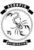 SCORPIO T-SHIRT DESIGN WHITE BACKGROUND royalty free stock image