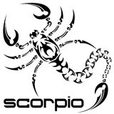 Scorpio tattoo Royalty Free Stock Photos