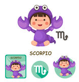 Scorpio vector collection. zodiac signs Stock Image