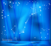 Scorpio Zodiac Background Royalty Free Stock Photos