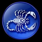Scorpio zodiac button icon Stock Photos