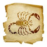 Scorpio zodiac icon Royalty Free Stock Photos