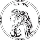 Vector illustration of sign zodiac Scorpio vector illustration