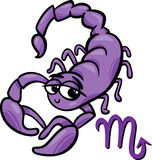 Scorpio zodiac sign cartoon Royalty Free Stock Photo