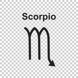 Scorpio zodiac sign. Flat astrology vector illustration on white Royalty Free Stock Photography