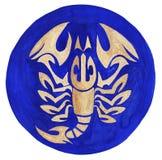 Scorpio Zodiac Symbol. Watercolor Illustration.The zodiac icon. Astrology.
