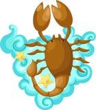 scorpioen undertecknar zodiac Royaltyfri Foto