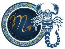 scorpioen undertecknar zodiac vektor illustrationer