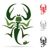 Scorpion. Tattoo in the form of the stylized scorpion Stock Photos