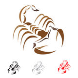 Scorpion. Tattoo in the form of the stylized scorpion Royalty Free Stock Images