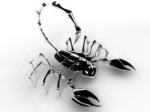 Scorpion 3d on the right Royalty Free Stock Photography