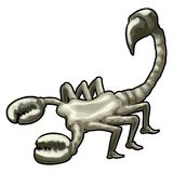Scorpion avec le chemin de découpage Photo stock