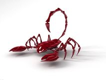 Scorpion 3D render stock illustration