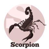 Scorpion de bande dessinée d'ABC Images stock