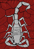 Scorpion design Stock Image