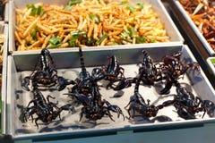 Scorpion fried. Sell on Khaosan Road , Bangkok Royalty Free Stock Image