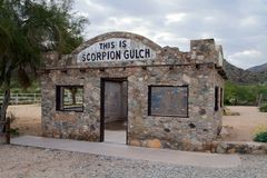 Scorpion Gulch de site historique de Phoenix Arizona image stock
