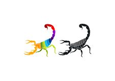 Scorpion logo design. In white background Royalty Free Stock Image