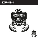 Scorpion logo with place for your text. Scorpion sign with place for your text Stock Images