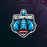Scorpion mascot logo design vector with modern illustration concept style for badge, emblem and t shirt printing. angry scorpion. Illustration royalty free illustration