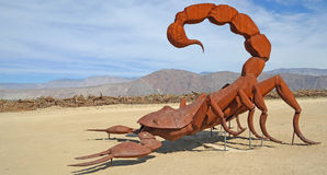 Scorpion - Metal Sculpture Stock Images