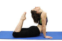 Scorpion pose Stock Photo
