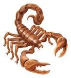 Scorpion Scorpio Zodiac Sign Design stock illustration
