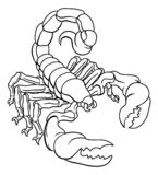 Scorpion Scorpio Zodiac Sign Design royalty free illustration