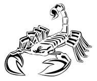 Scorpion. Set illustrator desain .eps 10 Stock Image