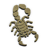 Scorpion sign Stock Image