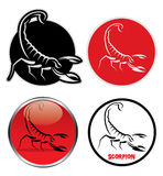 Scorpion signs Stock Photography