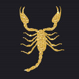 Scorpion Silhouette Icon Vector Illustration Stock Images
