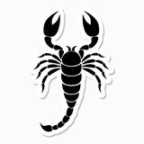 Scorpion sticker Stock Photos