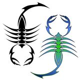 Scorpion symbols Stock Images