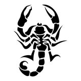 Scorpion tatoo. Scorpion black and white vector tatoo Royalty Free Stock Images