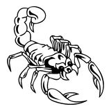 Scorpion tatoo. Scorpion black and white vector tatoo Royalty Free Stock Photography