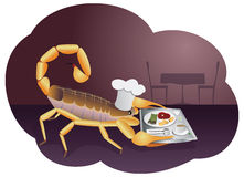 Scorpion waiter Stock Image