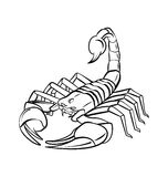 Scorpion Warrior vector illustration Royalty Free Stock Images
