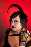 Scorpion zodiac girl stock photos