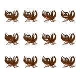 Scorpione con differenti espressioni facciali royalty illustrazione gratis