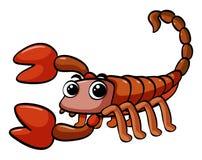 Scorpione con il fronte felice Fotografia Stock