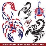 Scorpione dei modelli per il tatuaggio Fotografia Stock Libera da Diritti