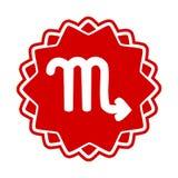 Scorpione del segno dello zodiaco illustrazione di stock